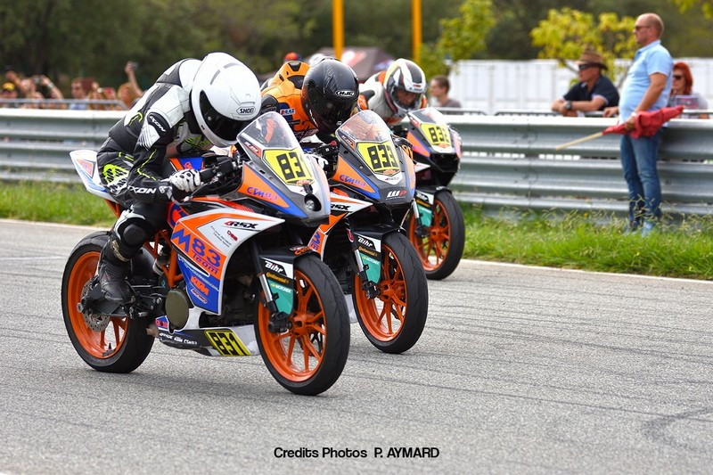 Podium au ktm 250 rc de vitesse Moto 25 Power 2019 Le Luc avec team ctm 83